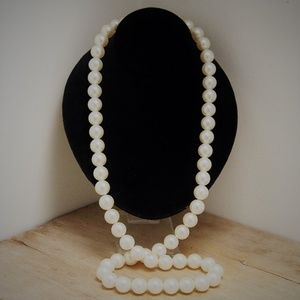 """33"""" Hand-Strung Vintage Long Pearl Necklace"""